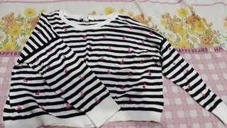 Baju atasan sweater crop top