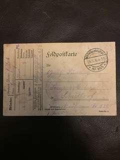 一戰德國戰場郵件 約100年前