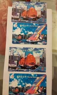 MTR 紀念車票 地鐵遊客紀念票連紙套 逐浪香江