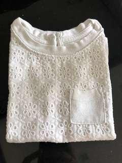White Lace T-Shirt Cat & Jack
