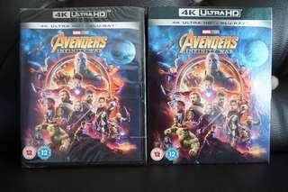 Avengers Infinity War 4k Ultra HD Blu-ray