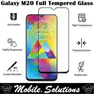 Samsung M20 Full Coverage Tempered Glass Screen Protector