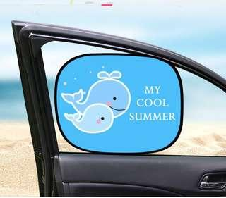Static Cling Blocks Vinyl Film Car Window Sunshade, Baby Foldable Car Static Cling Sunshade