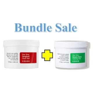 🚚 Bundle Sale Cosrx One Step Original Clear Pads + Cosrx One Step Green Hero Calming Pad