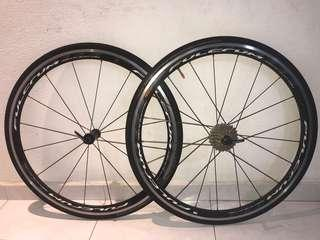 Fulcrum Racing Quattro Wheelset with Cassette and skewer