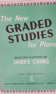 New graded studies for piano Book 2 by James Ching