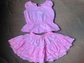 Set blouse and skirt