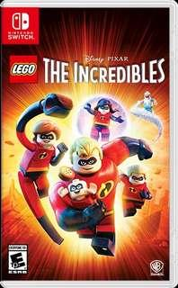 🚚 LEGO Nintento Switch - The Incredibles 2 (ORIGINAL physical card)