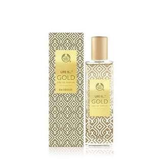 Body Shop Perfume Life is Gold LIMITED EDITION
