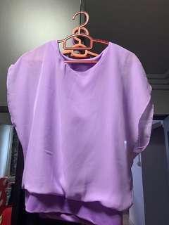 🚚 Purple chiffon top