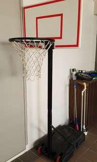 Stats Basketball Adjustable Stand and Net (1.5 to 1.9m)