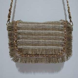 Nude chain bag / sling bag