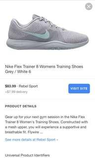 Nike Flex Trainer size 39 fire wire