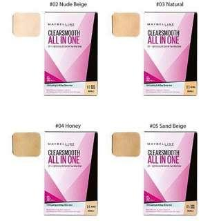 🚚 Maybelline clearsmooth all in one