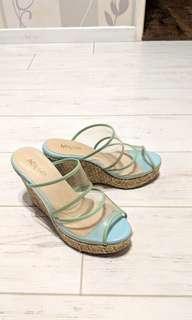 渡假風 厚底 楔型鞋 (36.5) ☀️☀️