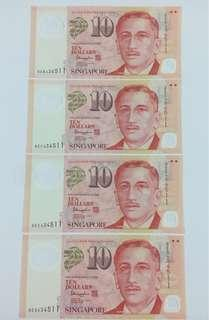 Singapore New Banknotes, UNC (Uncirculated).