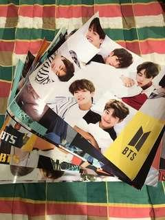 SET OF 8 BTS POSTERS