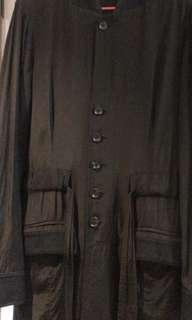 initial黑外套長裙衫1碼