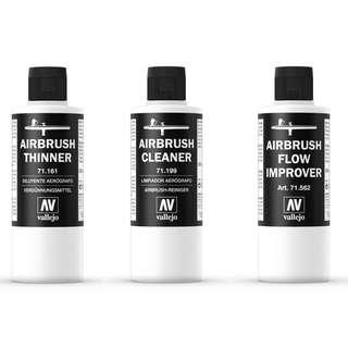 Vallejo Airbrush Thinner, Airbrush Cleaner and Flow Improver (Acrylic based) 200ml