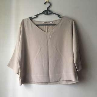 Uniqlo Dusty Pink 3/4 Top