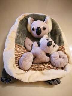 Koala bear backpack bag