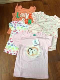 Bundle of baby girls Tops