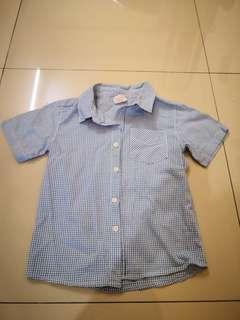 Boy short sleeve shirt