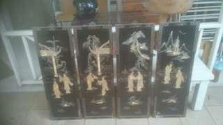 Panel dinding SET 2D China (kerang mutiara)
