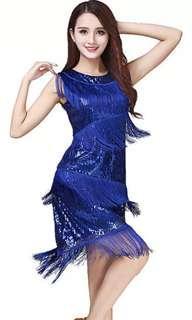 Latin Dance tassel dress