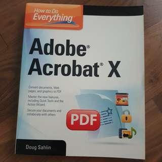 New Adobe acrobat X  BOOK not Software