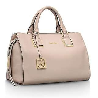 CK Cecilia Leather Duffle Satchel (New)