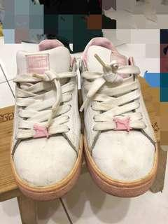轉賣~正品 粉紅色白色甜美可愛puma運動鞋 休閒鞋~38.5 24.5