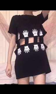 Brandnew Mickey cut out dress