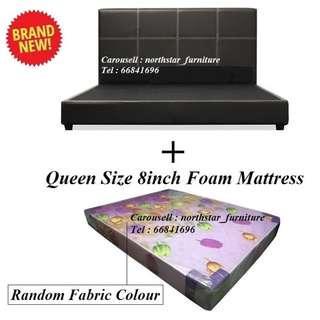 🚚 Queen Size Bed + Mattress
