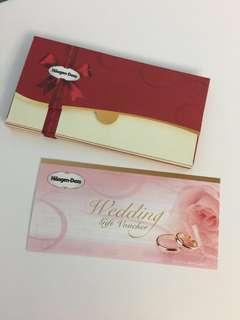 婚後物資 Haagen-Dazs $50wedding gift voucher 雪糕禮券 餅卡 全部已入封套