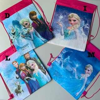 Frozen party supplies - draw string goodie bags / backpack/ party bags