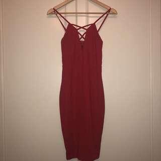 Dolly girl tight red dress