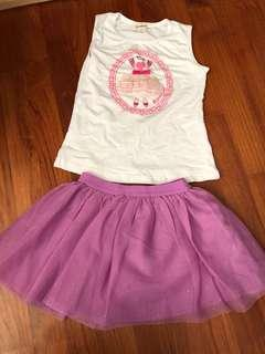 🚚 Pretty ballet Top & skirt set