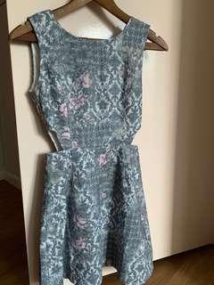 HVV peekaboo dress in floral