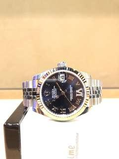 """Brand New Rolex Oyster Datejust 178274 Purple """"IV"""" Dial Automatic Steel Casing Bracelet"""