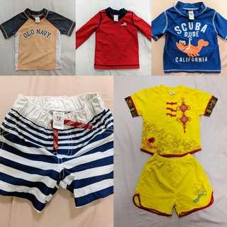 Toddler swim clothes and clothes for 12-18m