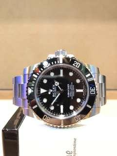 Brand New Rolex Oyster Submariner 114060LN Black Dial Automatic Steel Casing