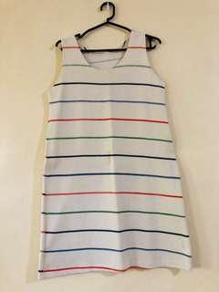 Striped casual dress (thick cotton material)