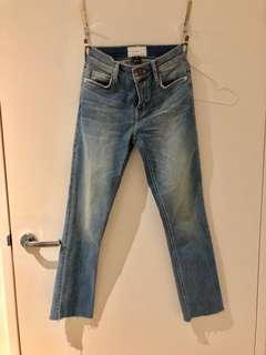 current elliott joey cropped straight leg jeans