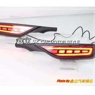 ※ 鑫立汽車精品 ※ FIT3.5 FIT 17-18年 C型野馬 三功能 跑馬 流水 LED 後保燈 反光片