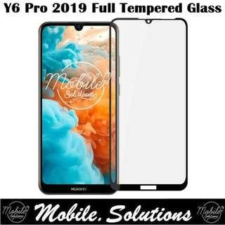 Huawei Y6 Pro 2019 Full Coverage Tempered Glass Screen Pro