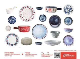 Ceramics & Homewares: Pop up sale at National Museum of Singapore