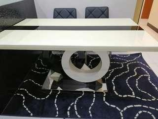 Marble Dining Table + 4 Dining Chair