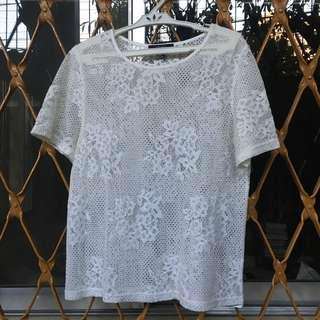 WHITE COVER UP BLOUSE