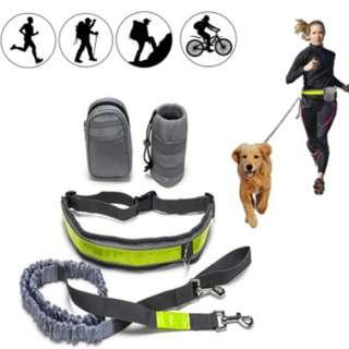 [In Stock] Hands Free Handsfree dog leash Jog with dog handsfree, Comes with Bottle holder and Zipper Pouch (removable)